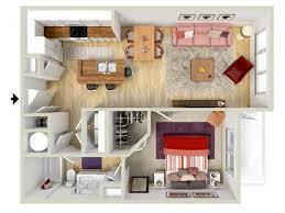 1 Bedroom   Tuscan Floor Plan   3D Rendering   Brand New Apartments!    Highway