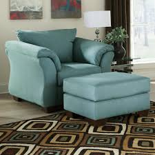 signature design by ashley darcy sky upholstered chair and ottoman item number 7500620
