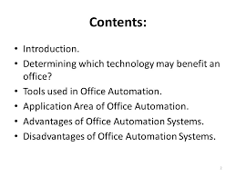 determining which technology may benefit an office tools used in office advantages of office automation