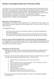 Service Level Agreement Template Simple Free Service Level Agreement Template Internal 48 Format Download