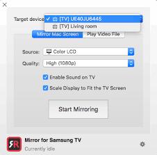 macbook on a samsung tv screen