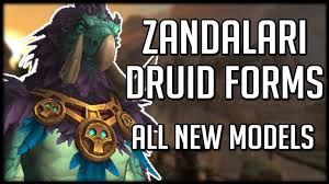Troll Druid Color Chart New Zandalari Troll Druid Forms Amazing Moonkin Model Wow Battle For Azeroth