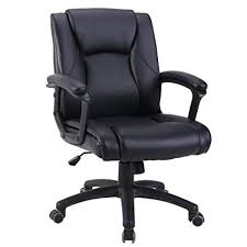 desk chair. Exellent Chair Zenith Ergonomic PU Leather Mid Back Executive Office Chair With Adjustable  Height Computer Desk  Throughout U