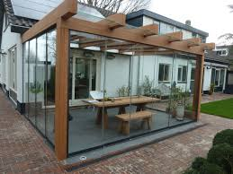 ( glass and wooden extension