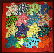 Linus Quilts   Skye Quilters & Puzzle Pieces Linus Quilt by Ruby Adamdwight.com