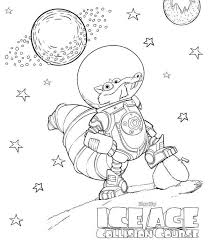 Small Picture Coloring page Ice age collision course scrat in space Coloring