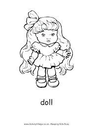 American Girl Printable Coloring Pages Doll Coloring Pages Doll
