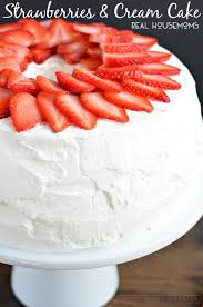 Strawberries And Cream Angel Food Cake Real Housemoms