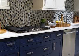 Signature Kitchen Design European Inspired Kitchen In Classic Navy Blue And White Color