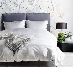 drop holiday gift nordic solid white color bedding duvet cover set pillowcase twin queen king size with ons king size bedding king size duvet