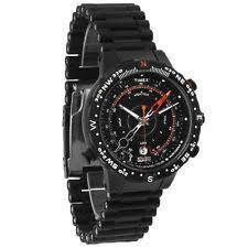 temperature watch timex mens intelligent quartz tide temperature compass black orange watch t2n723