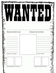 Wanted Poster Template For Pages Bacteria Wanted Poster Template Teach Science Classroom Science