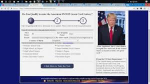 us green card lottery form infoupdate org