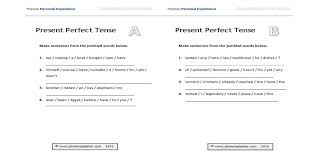Present Perfect Tense Consolidation Worksheet | photocopiables