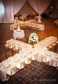 Gold And White Wedidng Reception Seating Arrangement