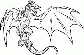 Coloring Pages Draw A Simple Dragon All Dragons To Color