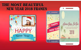 best happy new year 2018 photo frame free poster