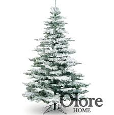 6ft Frosted Christmas Tree - Flocked Noble Pine - Artificial Christmas Tree