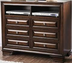 Furniture of America® Brandt Brown Cherry Six Drawer Media Chest ...