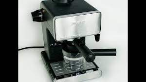 The water tank capacity is 4 cups. Mr Coffee Steam Espresso Cappuccino Maker Youtube