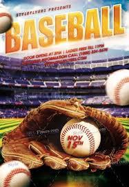 Free Baseball Flyer Template Baseball Psd Flyer Template