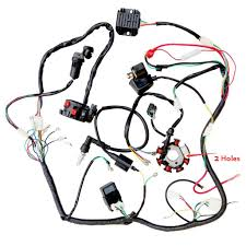 Amazon wiring harness kit wire loom plete electrics stator coil cdi for 150cc 300cc atv quad 4 four wheelers go kart dirt pit bikes 2 fixing
