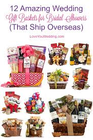 looking for the best wedding gift baskets for bridal showers that can be shipped both domestically