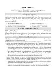 investment banking resume format