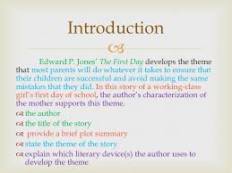 literary analysis this is a literary analysis essay which will 3 introduction edward p jones the first day