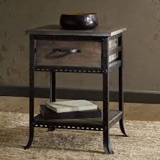 furniture chairside table with drawers small drawer end leick lamp antique black cherry wedge storage