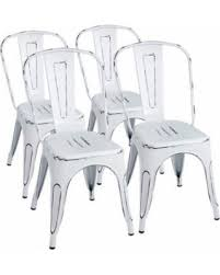 distressed metal furniture. Furmax Metal Chairs Distressed Style Dream White Indoor/Outdoor Use  Stackable Chic Dining Bistro Cafe Distressed Metal Furniture