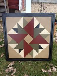 Best 25+ Barn quilt patterns ideas on Pinterest | Barn quilts ... & PriMiTiVe Hand-Painted Barn Quilt, Framed 2' x 2' Double Aster Pattern Adamdwight.com