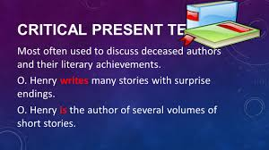 verb usage ppt  16 critical present tense