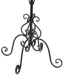 Wrought Iron Coat Rack Stand Beauteous Hat Rack Stand Wrought Iron Hat Rack With Rotating Hooks Salacia Hat
