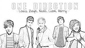 Kleurplaat Beroemdheden Kleurplaat One Direction Animaatjesnl