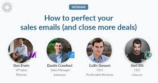 How to perfect your sales emails and close more deals (webinar)