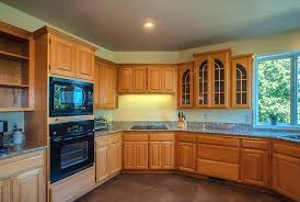 Oak Cabinet Kitchen Kitchen Colors With Oak Cabinets And Black Countertops Tray