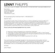 Room Attendant Cover Letter Letter Template