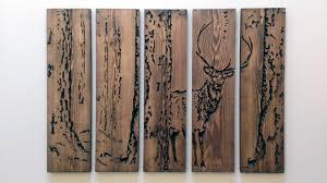 engraved wooden wall art