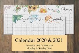 Callendar Planner Calendar Planner 2020 2021