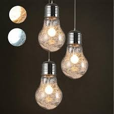 lumiparty creative pendant lights vintage iron glass big led bulb bar warehouse ceiling lamp lamps drum pendant light ceiling light shade from mikety