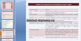 Презентация к диплому Анализ системы мотивации и стимулирования  ТОЛЬКО У НАС