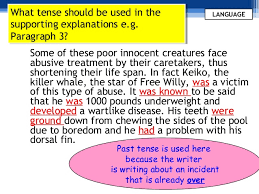 argumentative essay format and language use use present tense 12 what tense should be used