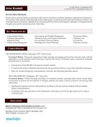 Investment Banking Resume Example Investment Banker Resume Sample
