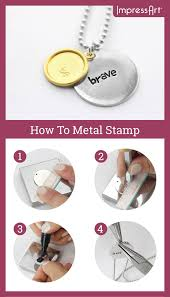 Design Your Own Metal Stamp Diyjewelry The Possibilities Are Endless When It Comes To