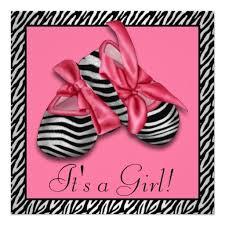 Pink And Black Zebra Baby Shower Invitations Black White Pink Pink Zebra Baby Shower Invitations