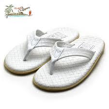 island slippers men hawaii leather sandals white islandslipper pt202sas white
