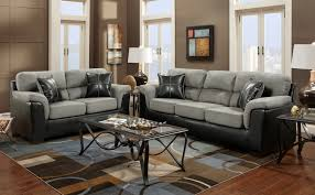 Two Loveseats In Living Room Roundhill Furniture