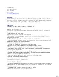 Custodian Resume Examples Resume Template