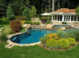 Backyard Pool Designs For Small Yards Classy 48 Pool Landscaping Ideas Create The Perfect Backyard Oasis Beyond